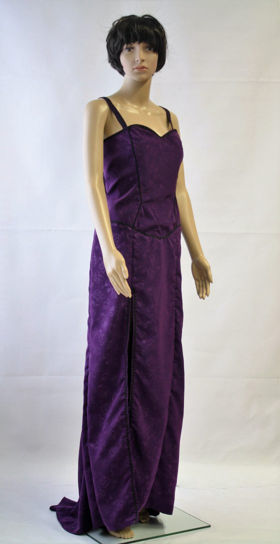 Lange burlesque jurk