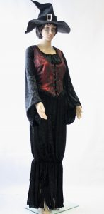 Heksenjurk met vest en hoed