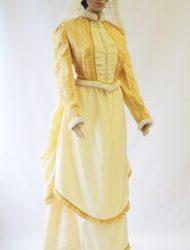 Tournure bruidskostuum