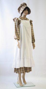 Historische jurk met schort