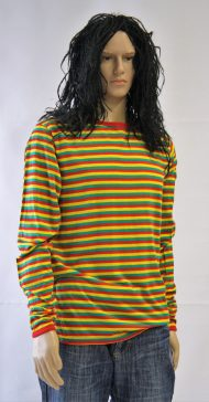 Reggaeshirt met pruik
