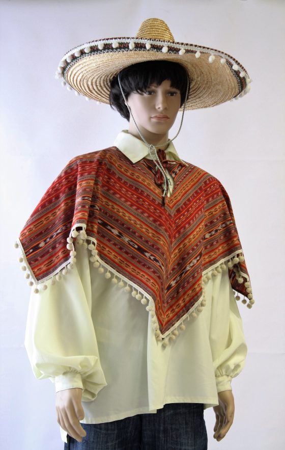 Poncho met sombrero